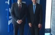 Setkání předsedy FAČR Martina Malíka s prezidentem FIFA Giannim Infantinem.JPG